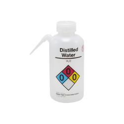 16 oz./500mL Distilled Water Nalgene™ Vented Unitary™ Right-To-Know Wash Bottle with Natural 38mm Cap
