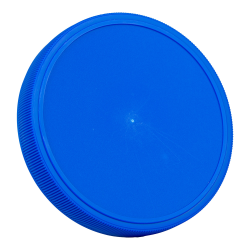 89mm Blue Polypropylene Fine Ribbed Lid