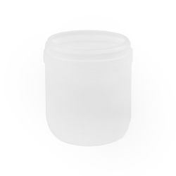15 oz. White Snap Top Towel Wipe Canister with 83mm Neck (Cap Sold Separately)
