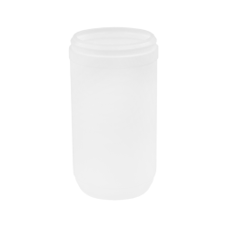 24 oz. White Snap Top Towel Wipe Canister with 83mm Neck (Cap Sold Separately)