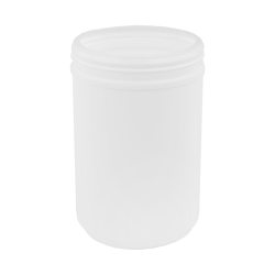 76 oz. White Snap Top Towel Wipe Canister with 120mm Neck (Cap Sold Separately)