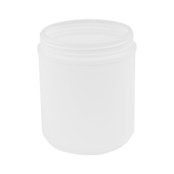 55 oz. White Threaded Towel Wipe Canister with 120mm Neck (Cap Sold Separately)