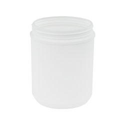 60 oz. White Threaded Towel Wipe Canister with 120mm Neck (Cap Sold Separately)