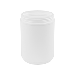 70 oz. White Threaded Towel Wipe Canister with 120mm Neck (Cap Sold Separately)