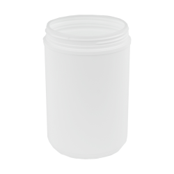 76 oz. White Threaded Towel Wipe Canister with 120mm Neck (Cap Sold Separately)