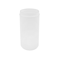 100 oz. White Threaded Towel Wipe Canister with 120mm Neck (Cap Sold Separately)
