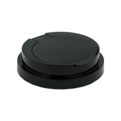 83mm Snap Top Cap for Towel Wipe Canister- Black