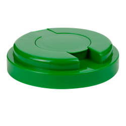 120mm Snap Top Cap for Towel Wipe Canister- Green