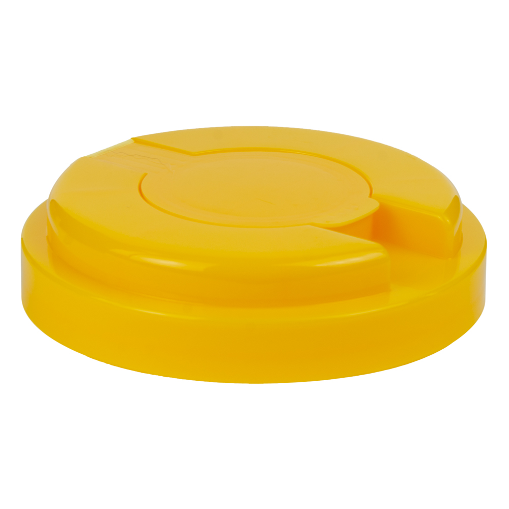 120mm Snap Top Cap for Towel Wipe Canister- Yellow
