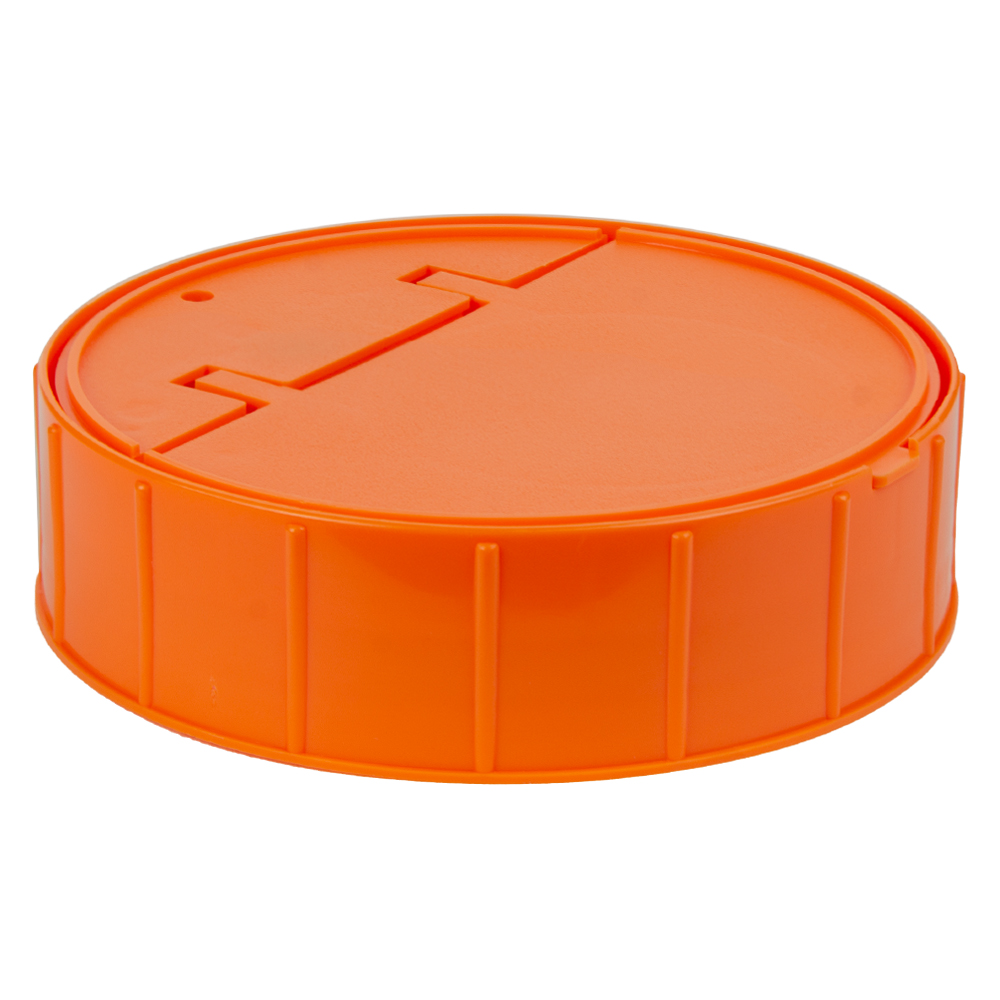 120mm Threaded Cap with Spring for Towel Wipe Canister- Orange