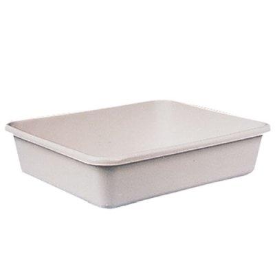 "22"" x 28"" White High Density Polyethylene Tray"