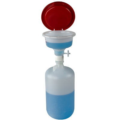 "2-5/8 Gallon (10 Liter) Nalgene™ Fluorinated HDPE Safety Waste System - 10"" Top ID"