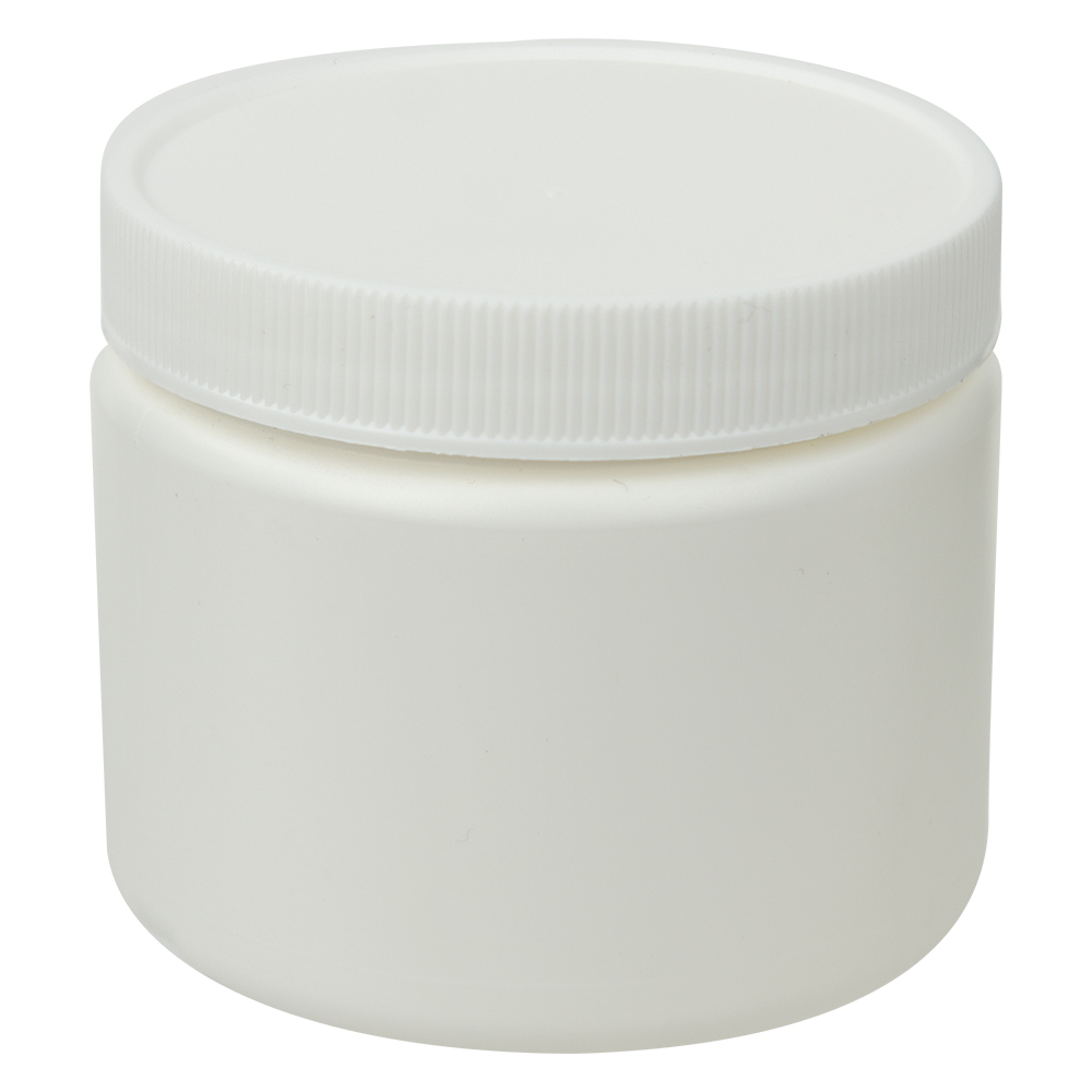 6 oz. White Straight Sided Jar with 70/400 Cap