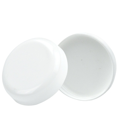 33/400 White Polypropylene Dome Cap with F217 Liner