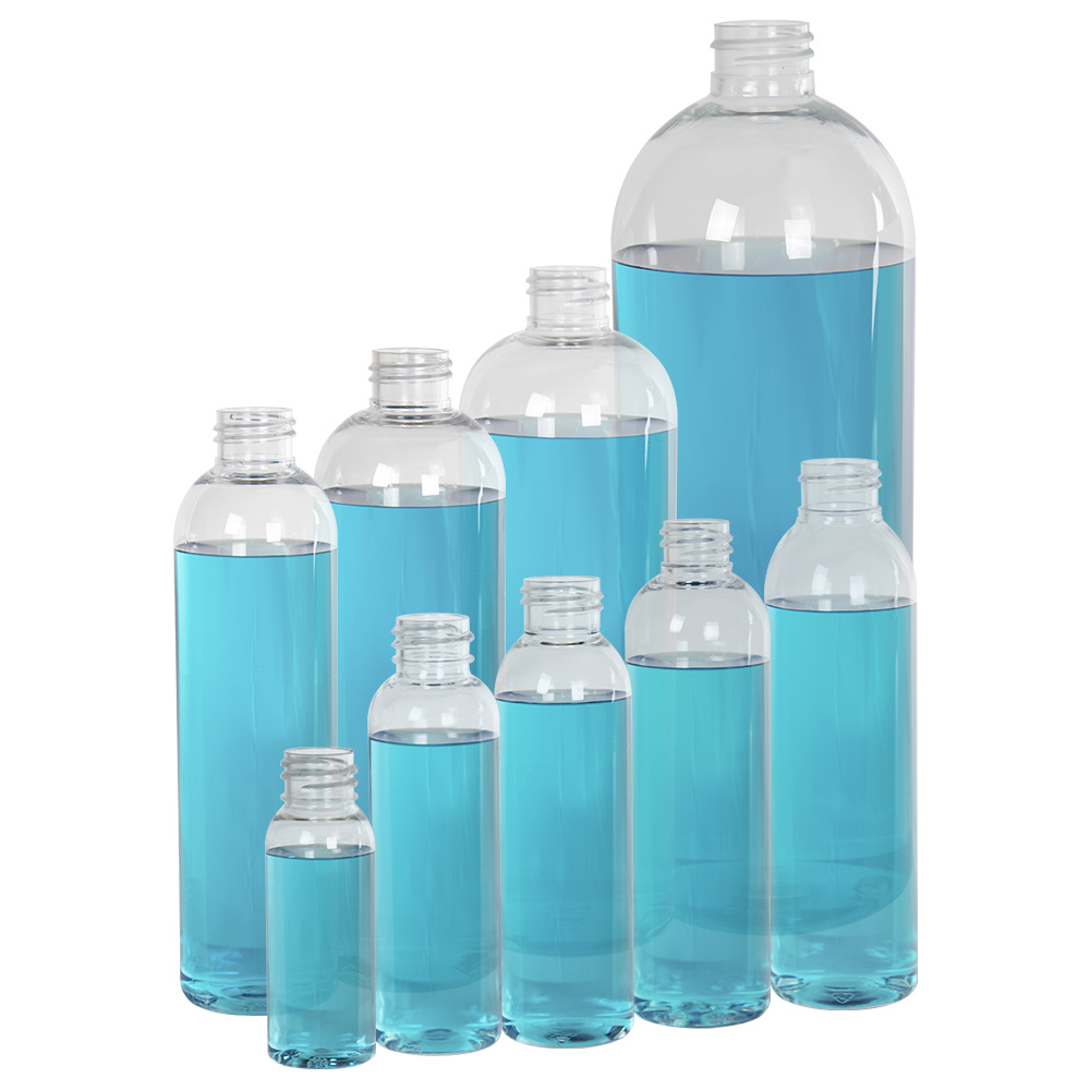 2 oz. Cosmo High Clarity Round Bottle with 20/410 Neck (Cap Sold Separately)