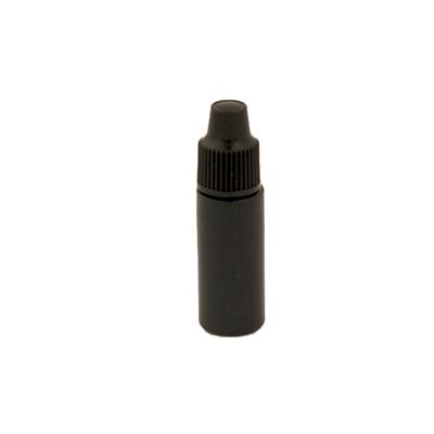 3cc Black Cylinder Bottle with 8mm Dropper Cap