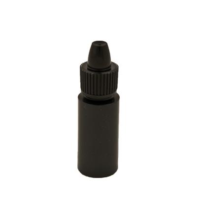 6cc Black Cylinder Bottle with 13mm Dropper Cap