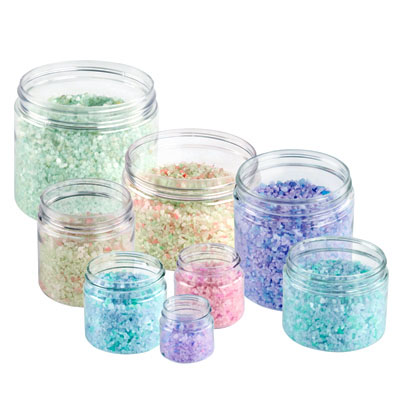 Clear Straight Sided PET Jars