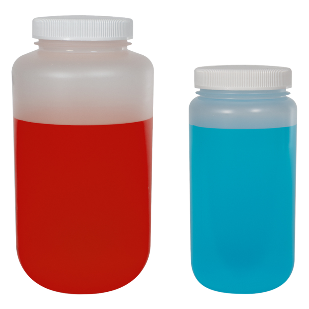 Thermo Scientific™ Nalgene™ Large Wide Mouth Polypropylene Bottles with Caps