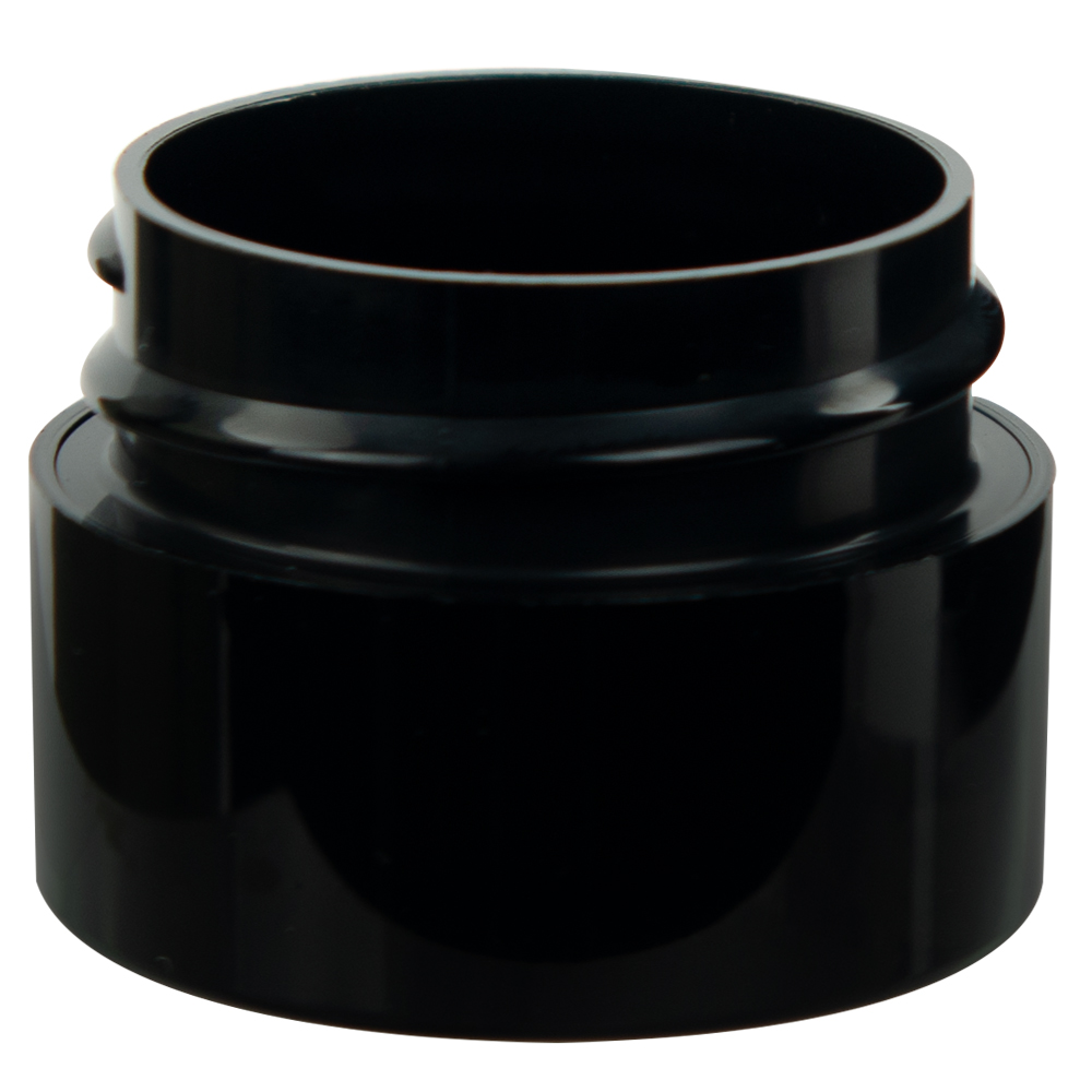 1/4 oz. Straight Sided Double Wall Black Jar with 33/400 Neck (Cap Sold Separately)