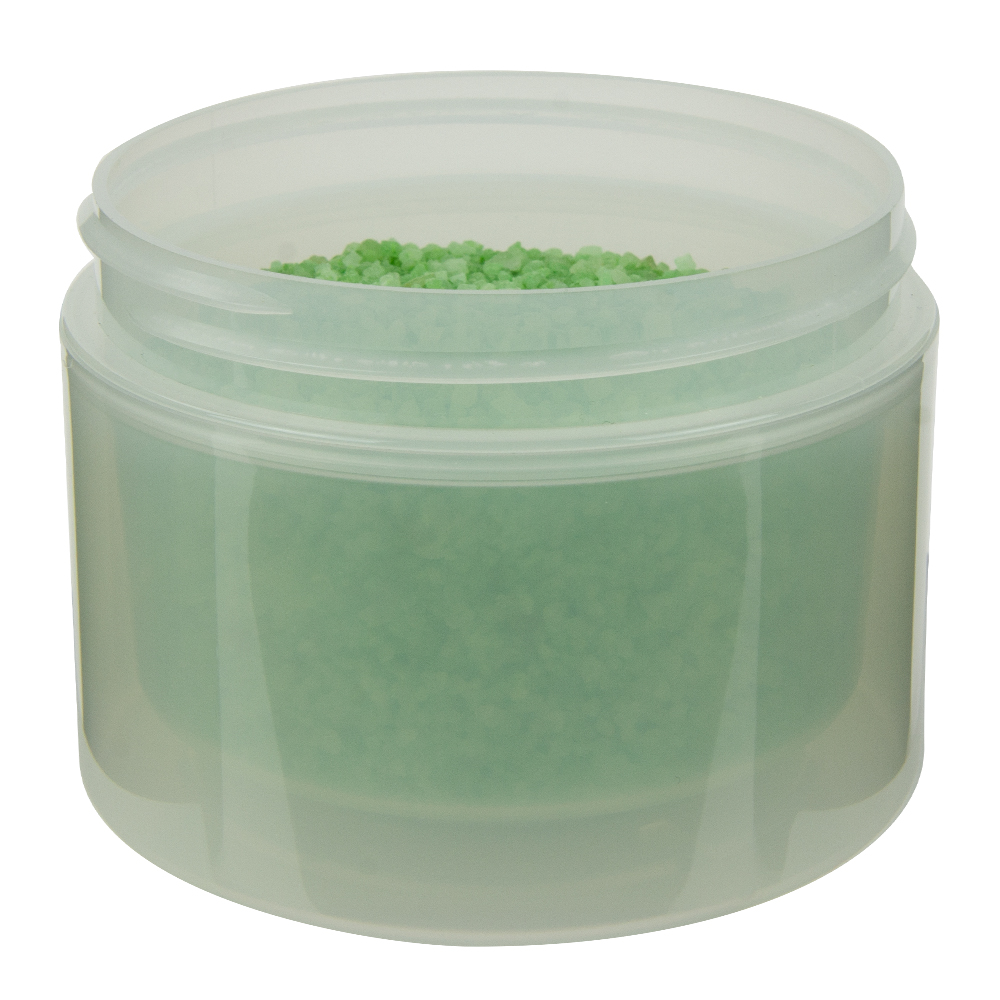 8 oz. Natural Polypropylene Straight Sided Double Wall Jar with 89/400 Neck (Cap Sold Separately)