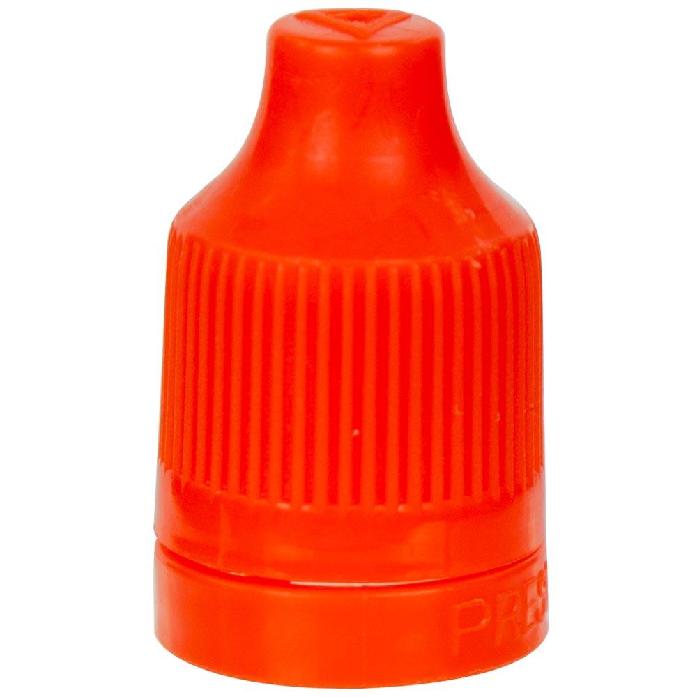 13/415 Orange CRC/TE Cap for E-Liquid Bottle