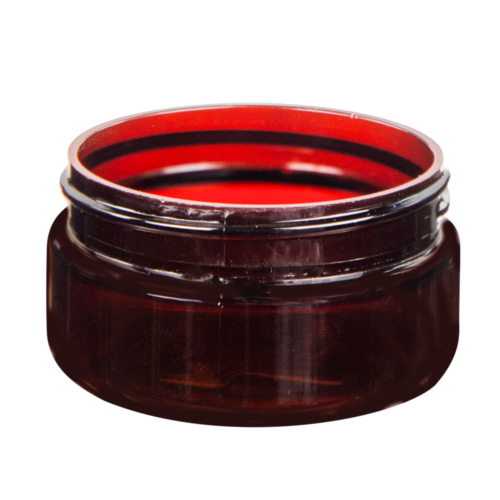 2 oz. Amber PET Straight Sided Jar with 58/400 Neck (Cap Sold Separately)