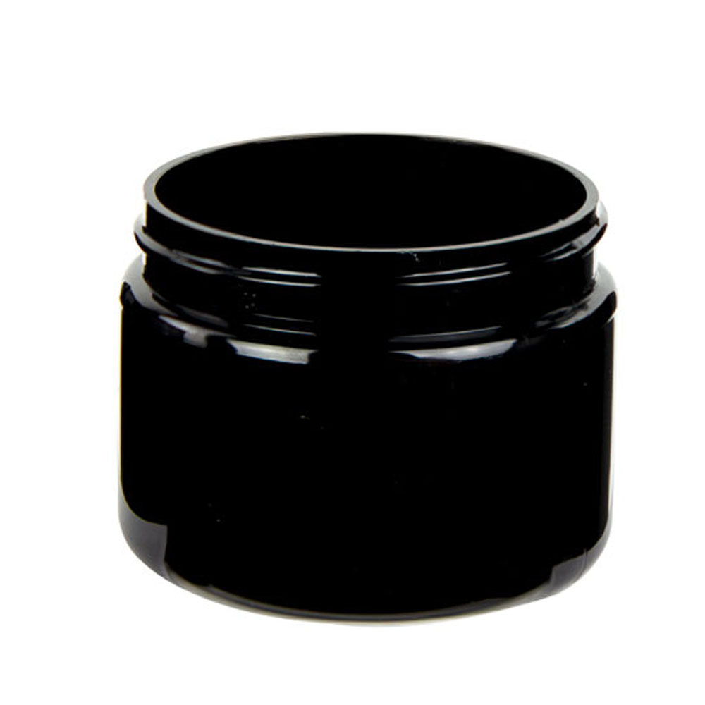 3 oz. Black PET Straight Sided Jar with 58/400 Neck (Cap Sold Separately)