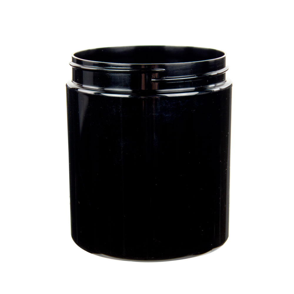 19 oz. Black PET Straight Sided Jar with 89/400 Neck (Cap Sold Separately)