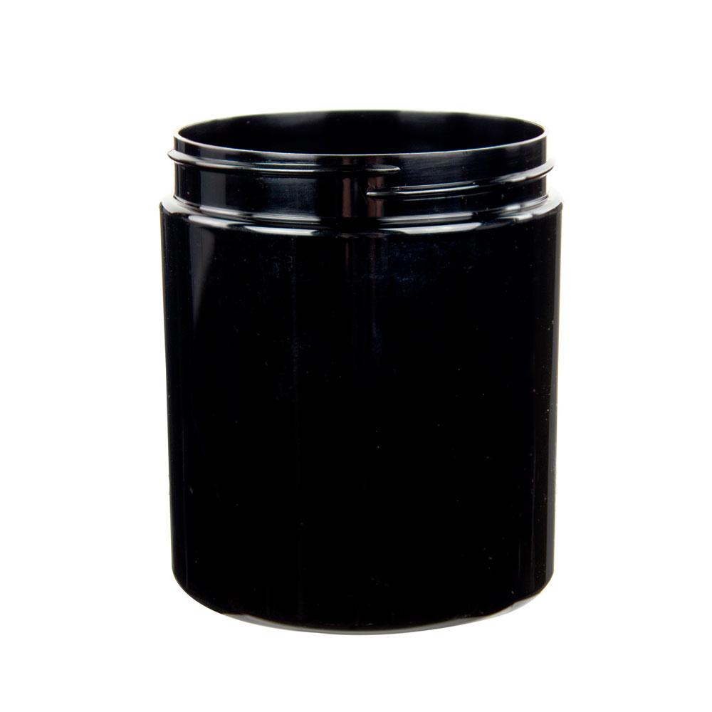 19 oz. Black PET Jar with 89/400 Neck (Cap Sold Separately)