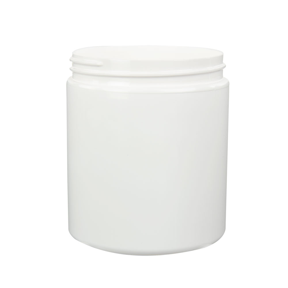19 oz. White PET Straight Sided Jar with 89/400 Neck (Cap Sold Separately)