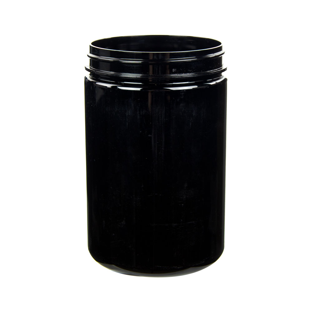 25 oz. Black PET Jar with 89/400 Neck (Cap Sold Separately)