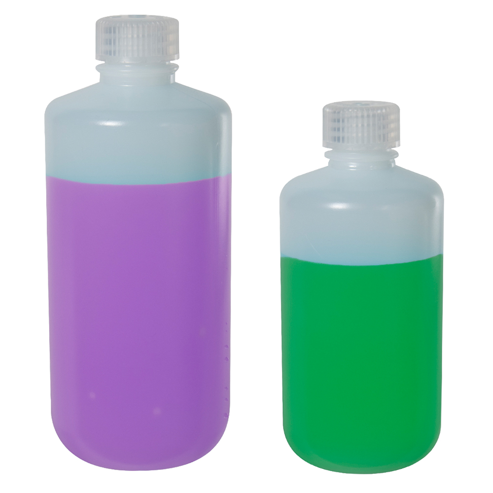 8 oz./250mL Nalgene™ Low-Particulate Narrow Mouth Bottle with 24mm Cap