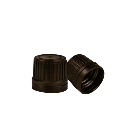 18mm Black Tamper Evident Cap for EO Bottles