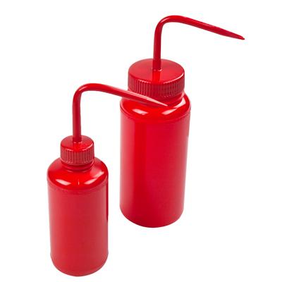 250mL Safety Red Wash Bottle 28mm Cap
