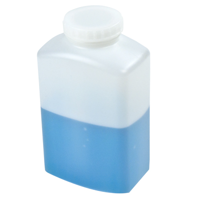 8 oz. Polystormor® Rectangular Wide Mouth Bottle with 43mm Cap