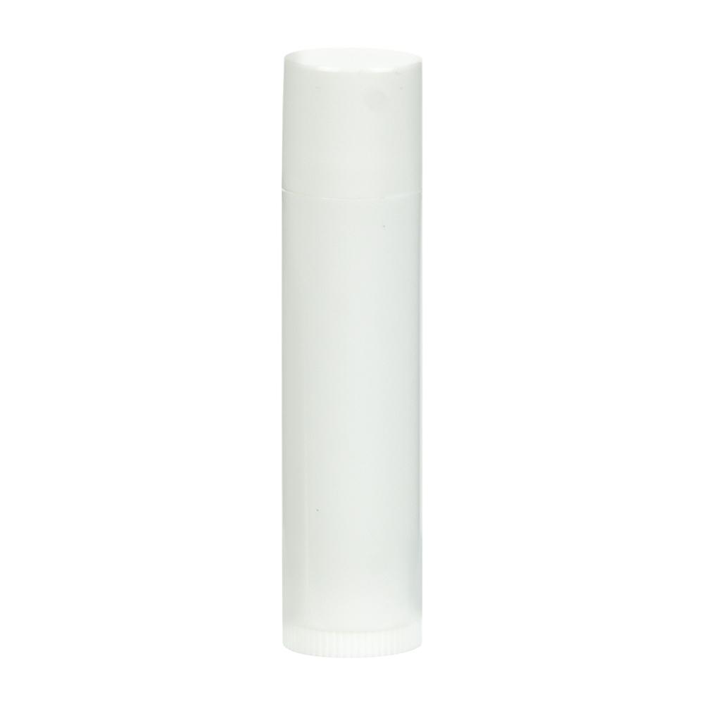 .15 oz. White Round Lip Balm Tube with Cap