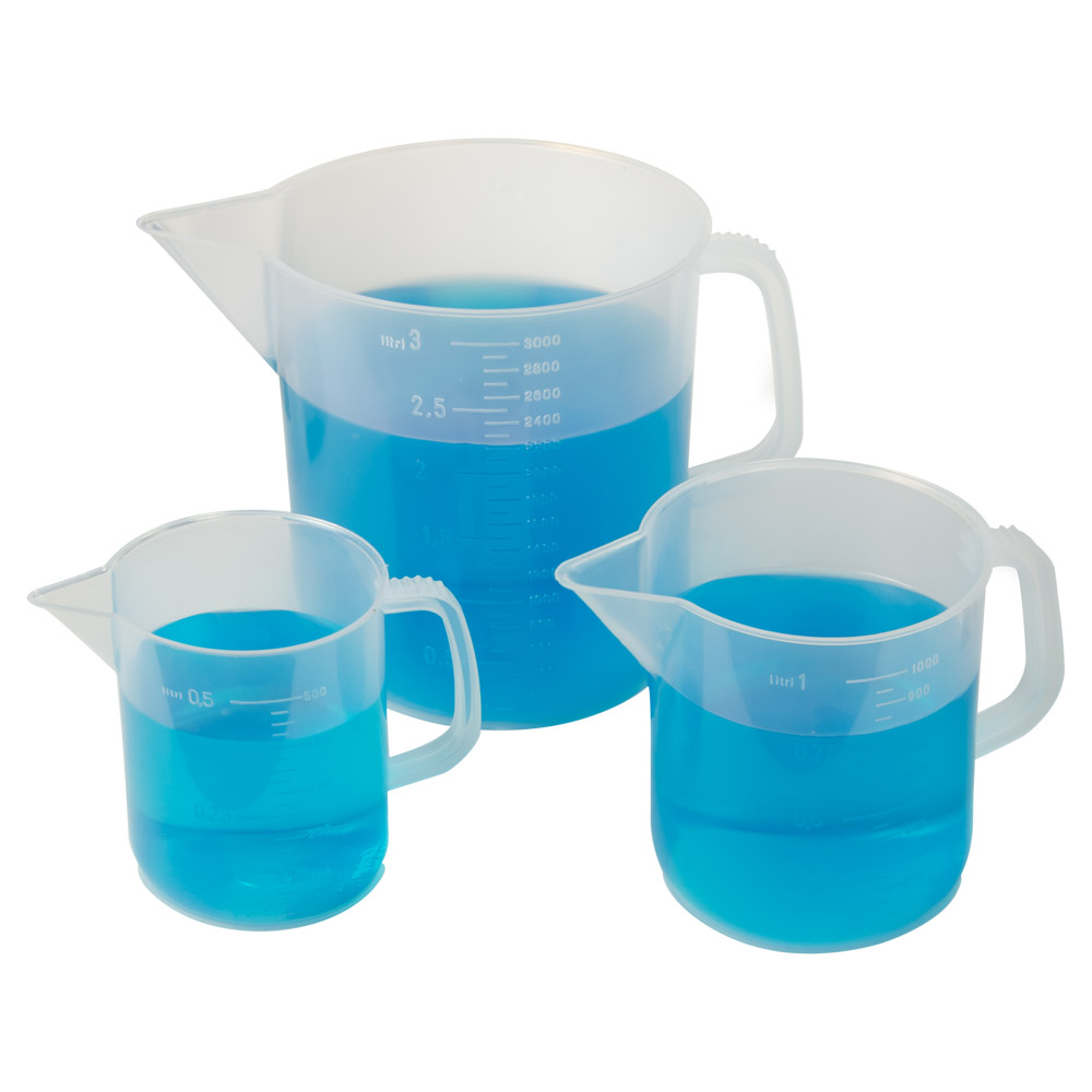 Kartell Low Form Measuring Beakers with Handle
