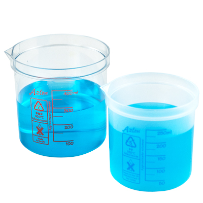 100mL Azlon® PMP Square Ratio Beakers