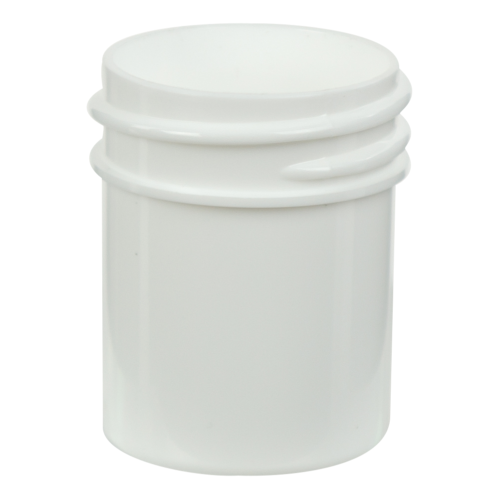 1/2 oz. Polypropylene Straight Sided White Jar with 33/400 Neck (Cap Sold Separately)