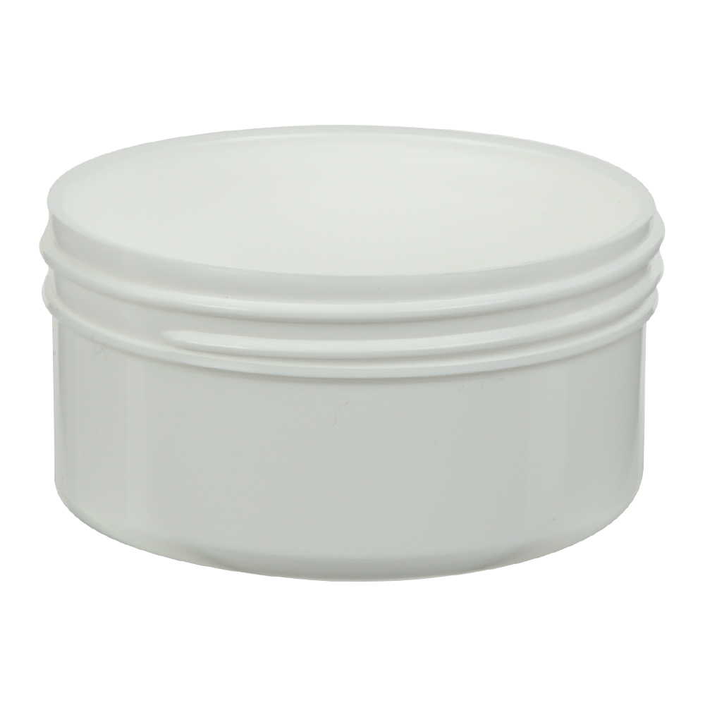 2.5 oz. Polypropylene Straight Sided White Jar with 70/400 Neck (Cap Sold Separately)