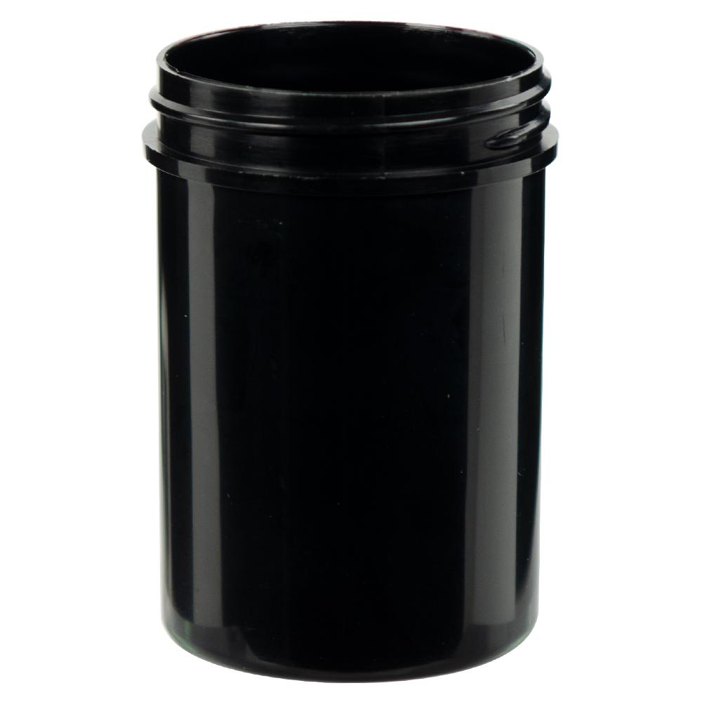4 oz. Black Polypropylene Straight Sided Jar with 53/400 Neck (Cap Sold Separately)