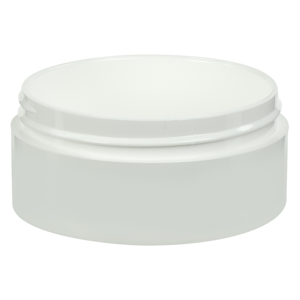 2 oz. White Polypropylene Straight Sided Thick Walled Jar with 70/400 Neck (Cap Sold Separately)
