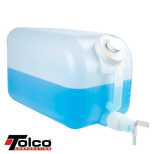 "HDPE 5 Gallon Carboy with Spigot & 3"" Opening"