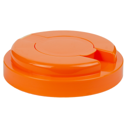 120mm Snap Top Cap for Towel Wipe Canister- Orange