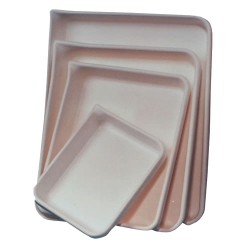 White High Density Polyethylene Print Developing Trays