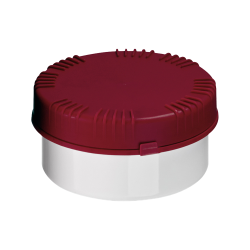 300mL HDPE UN Rated White Packo Jar with Red Lid