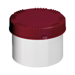 500mL HDPE UN Rated White Packo Jar with Red Lid