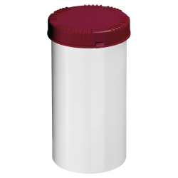 1300mL HDPE UN Rated White Packo Jar with Red Lid