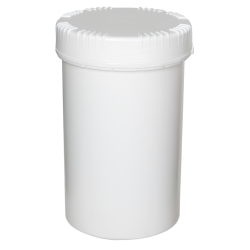 2000mL HDPE UN Rated White Packo Jar with White Lid